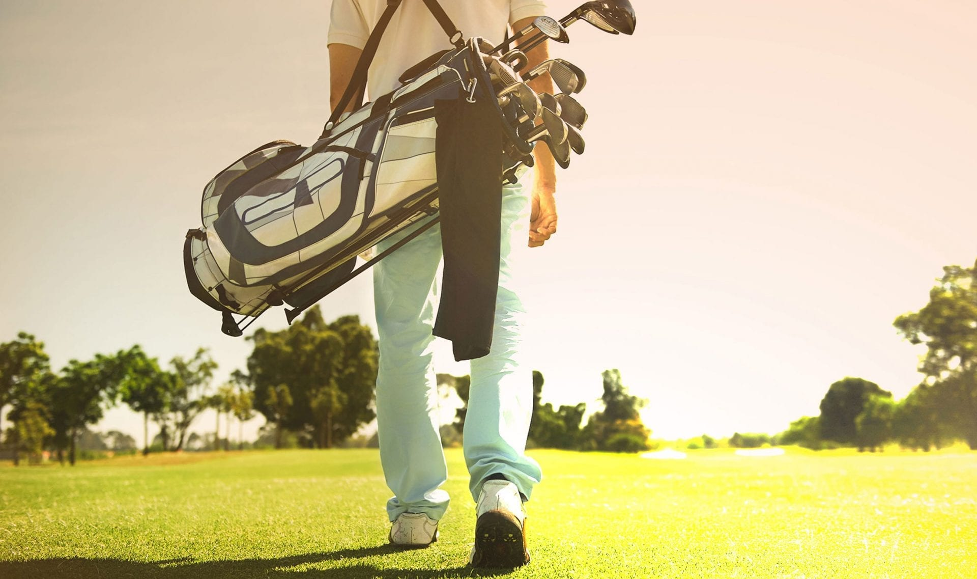 carrying golf bag