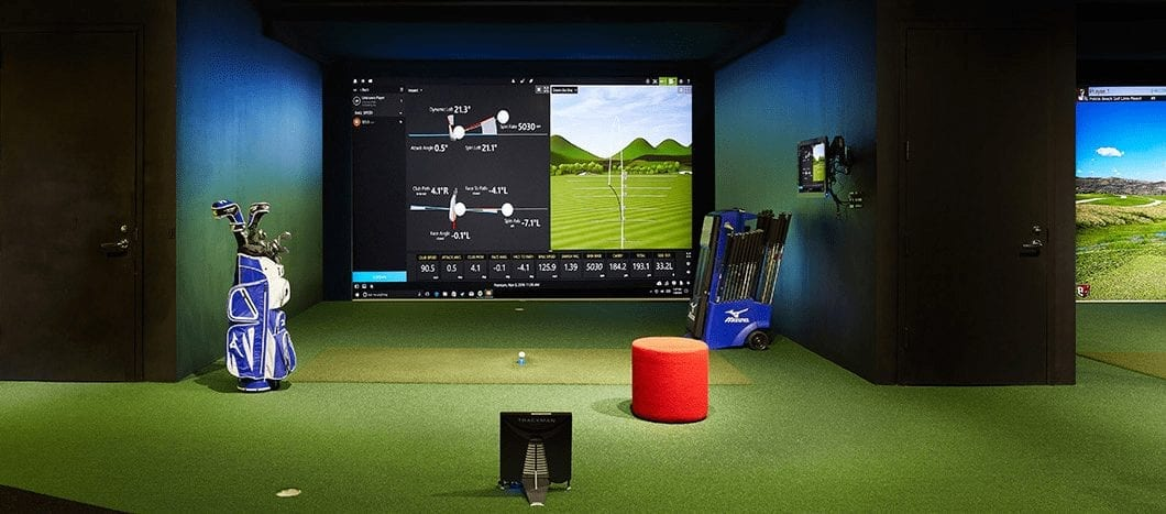 golf simulator, indoor golf lessons